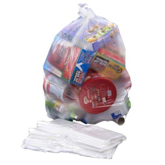 Clear Medium Duty 18x29x39 Inch Bin Bags - Box Of 200 WM1012