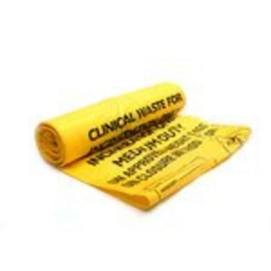 Yellow 18x29x39 Inch Clinical Waste Bags - Box Of 200 WM1020