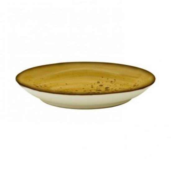 Java Decorated Coffee Saucer Sunrise Yellow 15cm 5.5 Inches Qty 12 IG 01202HSY