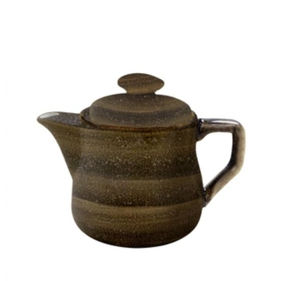 Java Decorated Teapot Woodland Brown 46cl 16oz Qty 4 IG 01663/4HWB