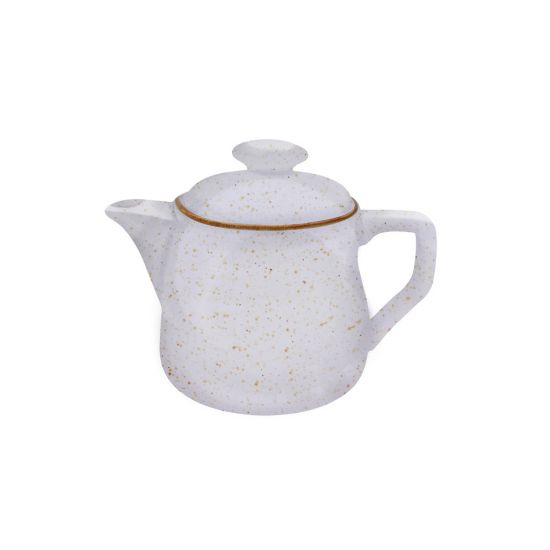 Java Decorated Teapot Barley Cream 46cl 16oz Qty 4 IG 01663/4HBC