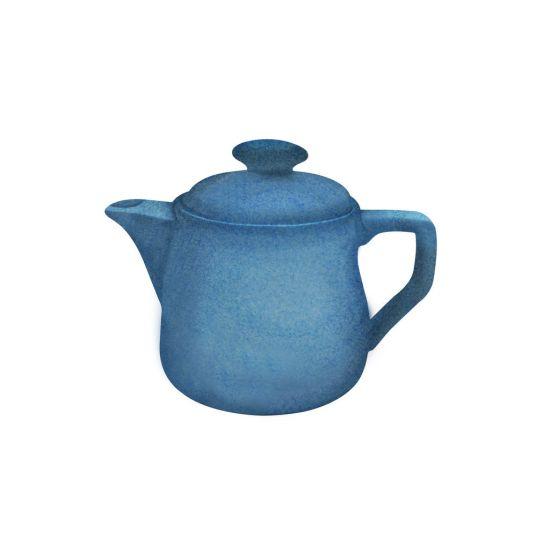 Java Decorated Teapot Horizon Blue 46cl 16oz Qty 4 IG 01663/4HHB