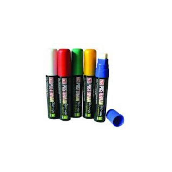 Large Liquid Chalk Pens White Qty 5 IG 3566/BEAU