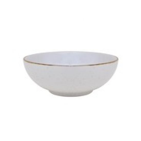Java Decorated Salad Bowl Barley Cream 22.5cm 9 Inches Qty 6 IG 36840BC