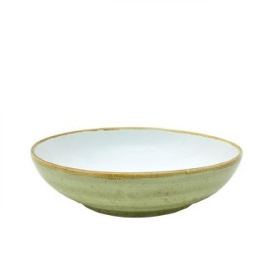 Java Decorated Salad Bowl Meadow Green 22.5cm 9 Inches Qty 6 IG 36840MG