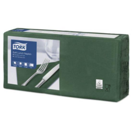 Lunch Napkins 2 Ply 4 Fold 32cm Dark Green Qty 2000 IG 477413