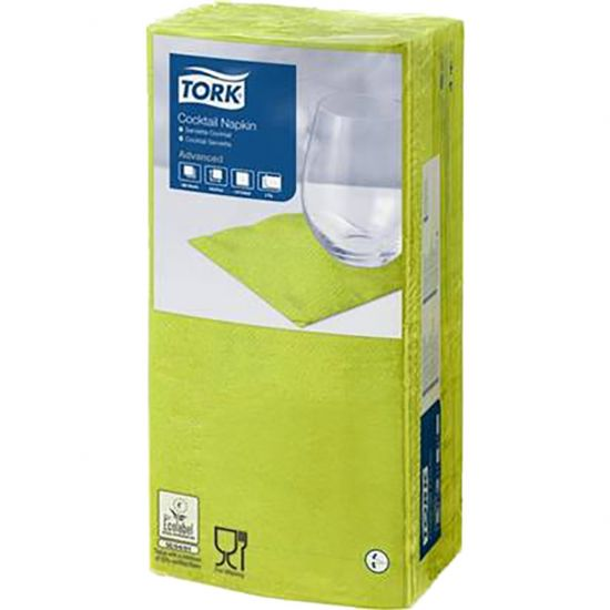 Cocktail Napkins Lime 2 Ply 24cm Qty 2400 IG 477822