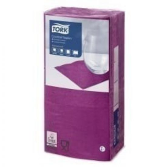 Cocktail Napkins Purple 2 Ply 24cm Qty 2400 IG 477833