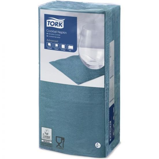 Cocktail Napkins Blue Green 2 Ply 24cm Qty 2400 IG 477839