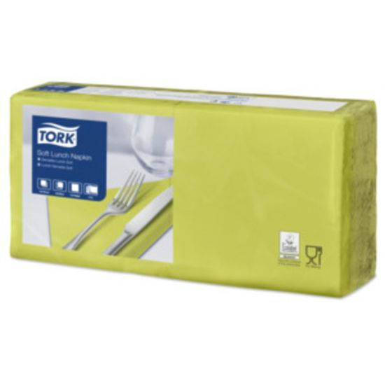 Lunch Napkins 2 Ply 4 Fold 32cm Lime Qty 2000 IG 477860