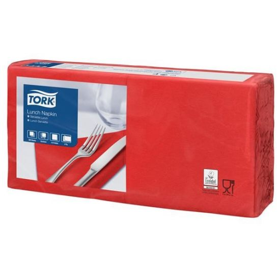 Lunch Napkins 2 Ply 4 Fold 32cm Red Qty 2000 IG 477861