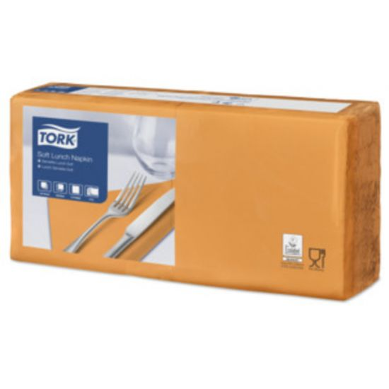 Lunch Napkins 2 Ply 4 Fold 32cm Orange Qty 2000 IG 477870