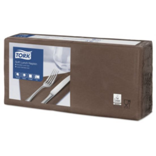 Lunch Napkins 2 Ply 4 Fold 32cm Brown Qty 2000 IG 477872