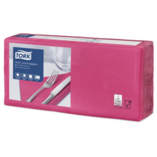Lunch Napkins 2 Ply 4 Fold 32cm Bright Pink Qty 2000 IG 477873