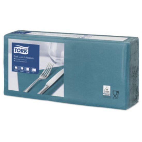 Lunch Napkins 2 Ply 4 Fold 32cm Blue Green Qty 2000 IG 477874