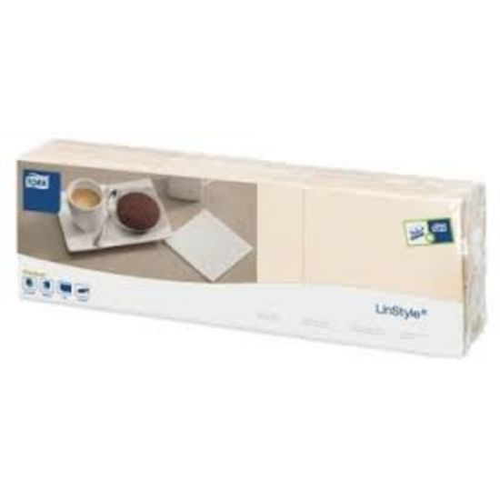 Tork Linstyle Napkins 8 Fold Cream 39cm Qty 600 IG 478153