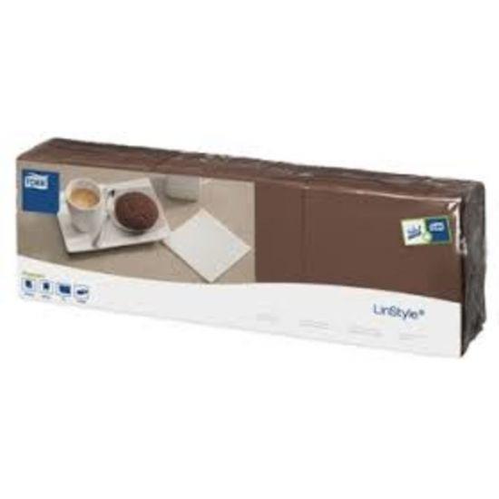 Tork Linstyle Napkins 8 Fold Cocoa 39cm Qty 600 IG 478157