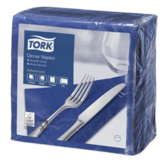 Dinner Napkins 2 Ply 4 Fold 39cm Dark Blue Qty 1800 IG 478756