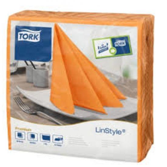 Tork Linstyle Napkins 4 Fold Orange 39cm Qty 600 IG 478851