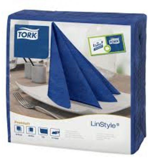 Tork Linstyle Napkins 4 Fold Midnight Blue 39cm Qty 600 IG 478856