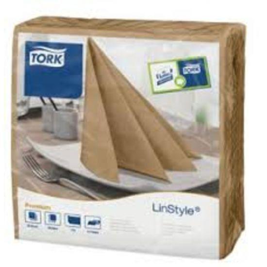 Tork Linstyle Napkins 4 Fold Biscuit 39cm Qty 600 IG 478874