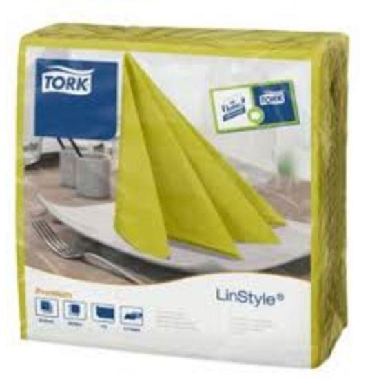 Tork Linstyle Napkins 4 Fold Pistachio 39cm Qty 600 IG 478876