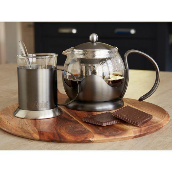 La Cafetiere Edited 2 Cup Le Teapot, Gun Metal Grey IG 5233025