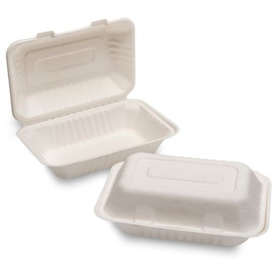 Bagasse F+C Box 324 X 155 X 60mm Large White