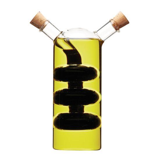 Italian Glass Dual Oil & Vinegar Bottle 300ml/100ml IG WFITCRUET100
