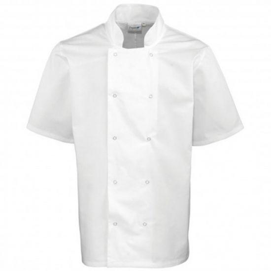 Short Sleeve Basic Jacket White S IG PEGA102/S