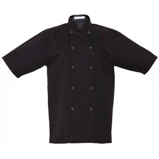 Basic Black Stud Short Sleeve Jacket S IG PEGA104/S