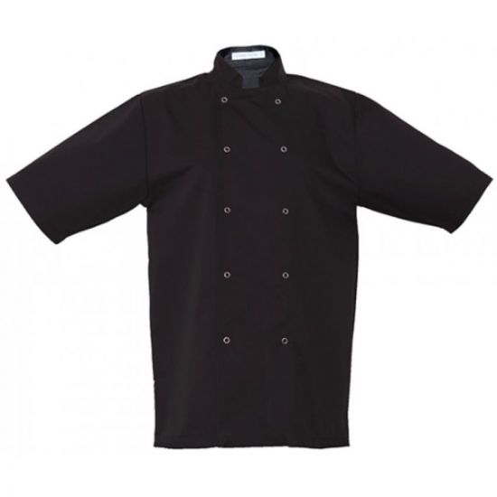 Basic Black Stud Short Sleeve Jacket XXL IG PEGA104/XXL