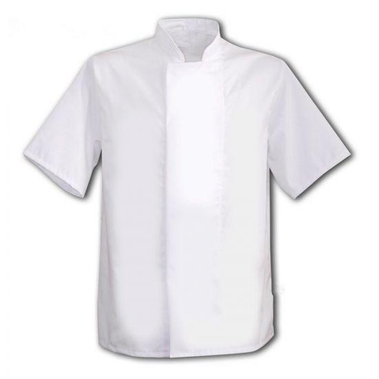White Coolmax Jacket With Comcealed Press Studs L IG PEGA108/L