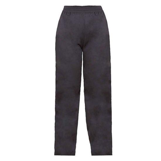 Black Baggy Drawstring Chefs Trousers L IG PEGA201/L