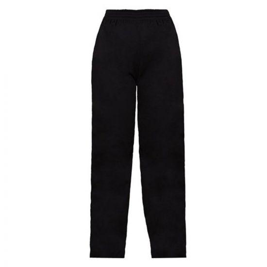 Black Baggy Drawstring Chefs Trousers M IG PEGA201/M
