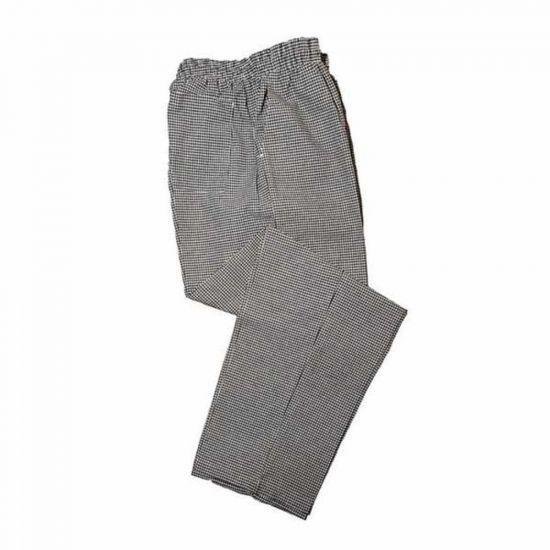 Check Baggy Gingham Chef Trousers Black/White M IG PEGA204/M