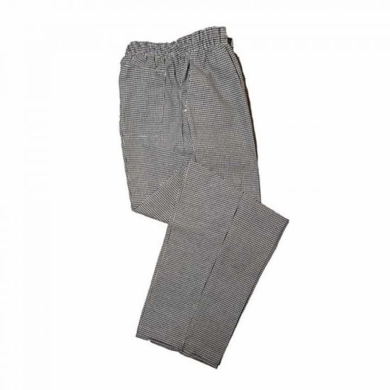 Check Baggy Gingham Chef Trousers Black/White XL IG PEGA204/XL