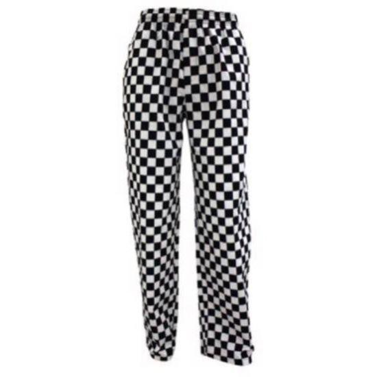 Black/White Checkerboard Chef Trousers L IG PEGA205/L