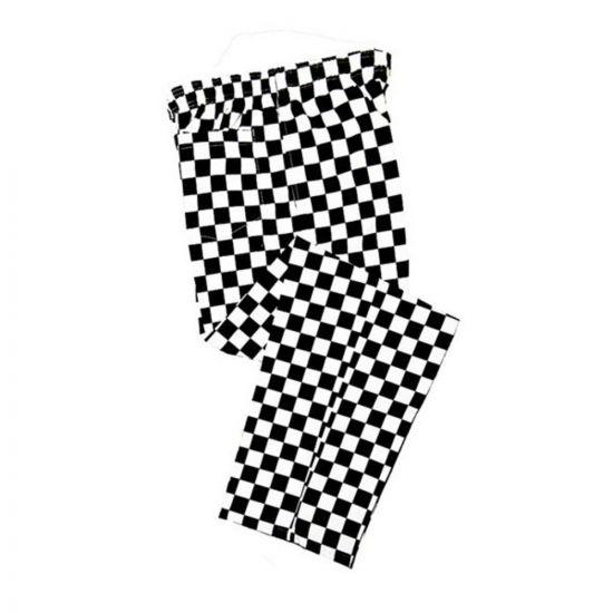 Black/White Checkerboard Chef Trousers S IG PEGA205/S