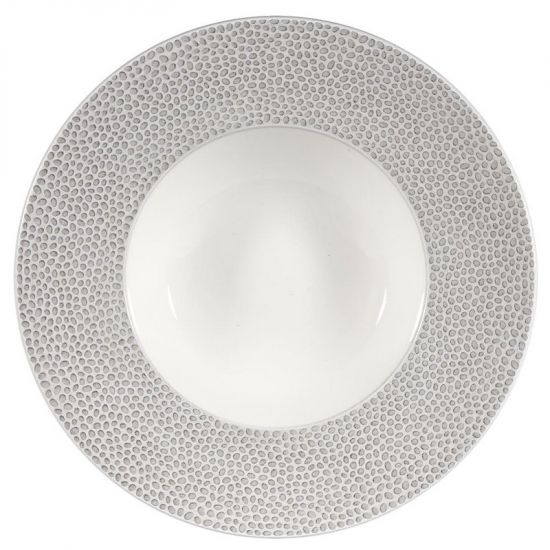 Isla Spinwash Shale Grey Wide Rim Bowl 9 1/2 Inches Box 12 IG SHISIWBM1
