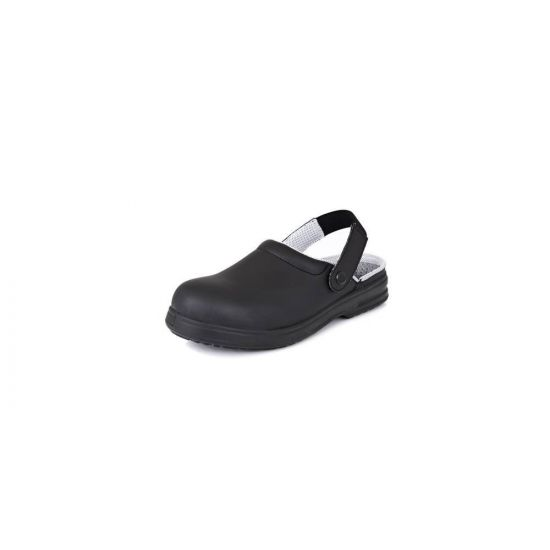 Safety Clogs Black Size 6 IG SRC02B-6