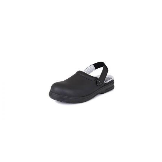 Safety Clogs Black Size 9 IG SRC02B-9