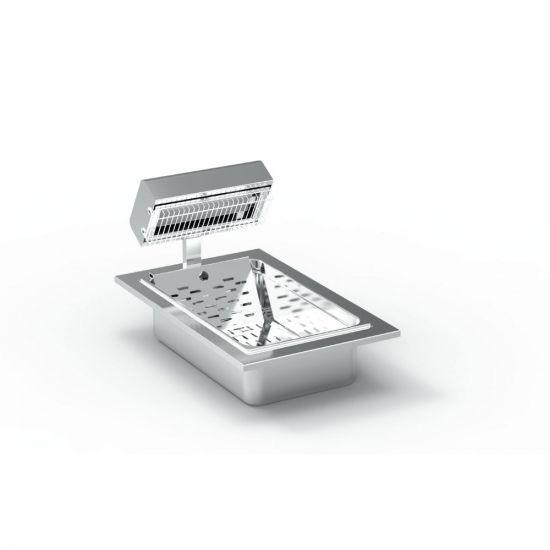 FriFri Silofrit Electric Built-in Chip Scuttle - W 400 Mm - 0.65 KW LIN 651105