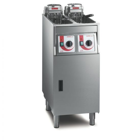 FriFri Super Easy 422 Electric Free-standing Twin Tank Fryer With Filtration - 2 Baskets - W 400 Mm - 2 X 7.5 KW LIN 651125-B500