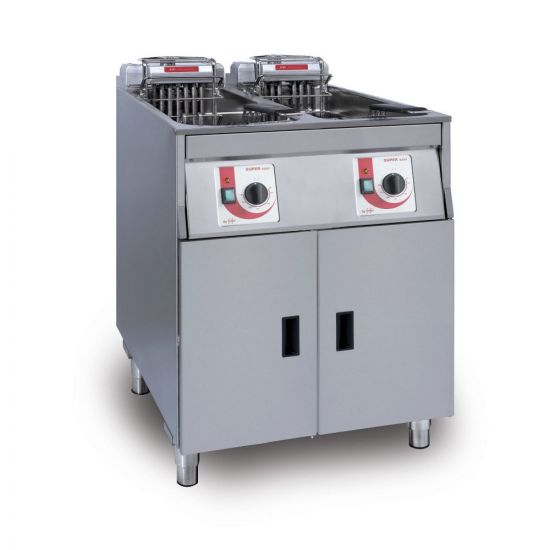 FriFri Super Easy 622 Electric Free-standing Twin Tank Fryer With Filtration - 2 Baskets - W 600 Mm - 2 X 15.0 KW LIN 651139-G500