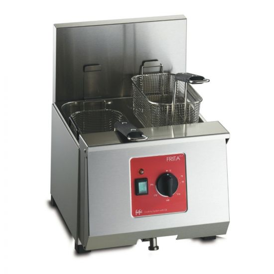FriFri Frita+ 8 Electric Counter-top Single Tank Fryer - 2 Baskets - W 360 Mm - 6.9 KW LIN 652001