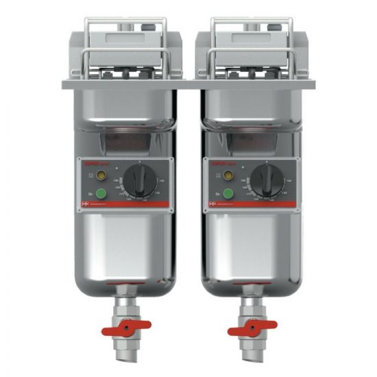FriFri Super Easy 422 Electric Built-in Twin Tank Fryer With Filtration - 2 Baskets - W 400 Mm - 2 X 7.5 KW LIN 671125-B700
