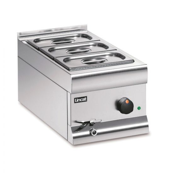 Silverlink 600 Electric Counter-top Bain Marie - Wet Heat - Gastronorms - Base + Dish Pack - W 300 Mm - 1.0 KW LIN BM3AW