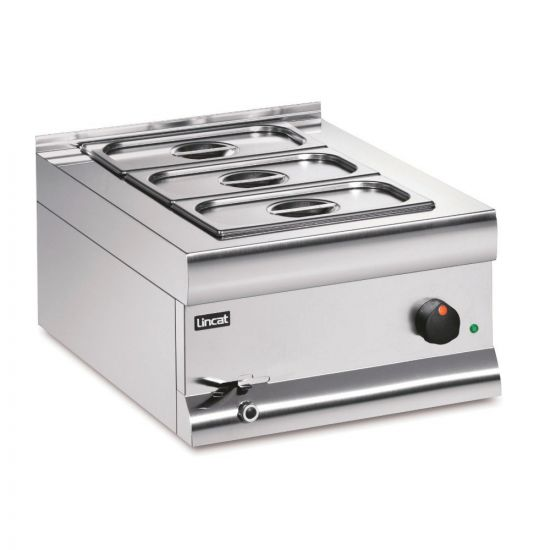 Silverlink 600 Electric Counter-top Bain Marie - Wet Heat - Gastronorms - Base + Dish Pack - W 450 Mm - 1.0 KW LIN BM4BW