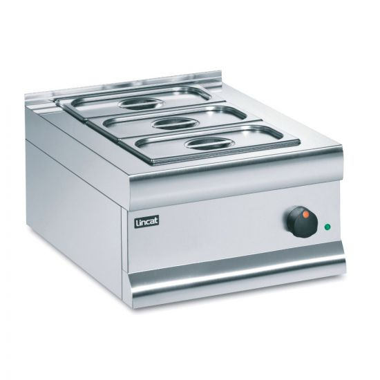 Silverlink 600 Electric Counter-top Bain Marie - Dry Heat - Gastronorms - Base + Dish Pack - W 450 Mm - 0.75 KW LIN BM4B